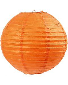 Lampada di carta, diam: 20 cm, arancio, 1 pz