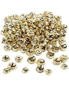 Campanellini, diam: 13+15+17 mm, oro, 220 asst./ 1 conf.