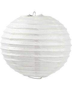Lampada di carta, Tondo, diam: 20 cm, bianco, 1 pz