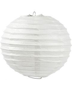 Lampada di carta, Tondo, diam: 35 cm, bianco, 1 pz