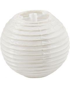 Lampada di carta, diam: 7,5 cm, bianco, 10 pz/ 1 conf.