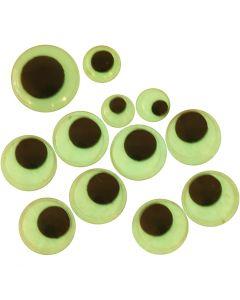 Occhi mobili, autoadesivi, diam: 8+10+14 mm, 30 asst./ 1 conf.