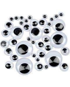 Occhi mobili, non adesivo, diam: 4-20 mm, 1100 asst./ 1 conf.