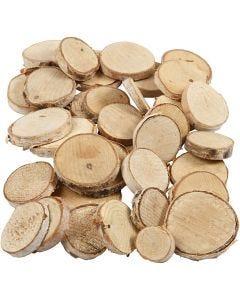 Misto legno, diam: 25-45 mm, spess. 7 mm, 600 g/ 1 conf.