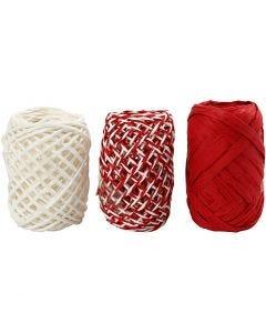 Corda di carta, armonia rosso/bianco, 3x10 m/ 1 conf.
