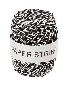 Corda di carta, spess. 1 mm, nero/bianco, 50 m/ 1 rot.