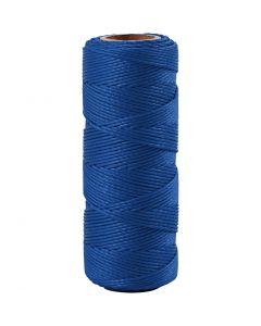 Filo di iuta, spess. 1 mm, blu, 65 m/ 1 rot.