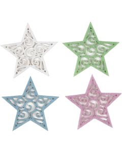 Stelle di feltro, diam: 46 mm, spess. 1 mm, 20 pz/ 1 conf.