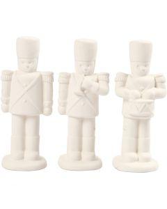 Schiaccianoci, H: 14 cm, bianco, 3 pz/ 1 conf.