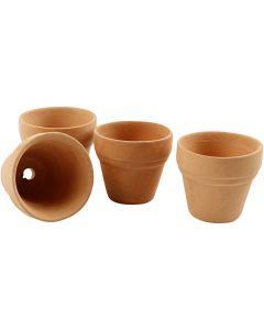 Vasi da fiori, H: 3,1 cm, diam: 3,4 cm, 48 pz/ 1 scat.