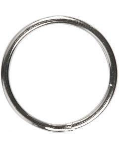 Anelli portachiavi, diam: 15 mm, 10 pz/ 1 conf.