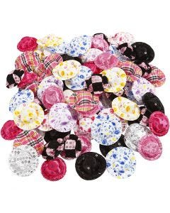 Mini cappelli, diam: 4 cm, colori asst., 100 pz/ 1 conf.