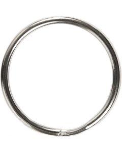 Anelli portachiavi, diam: 25 mm, 8 pz/ 1 conf.