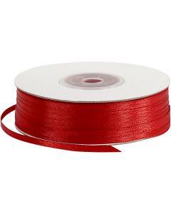 Nastro di raso, L: 3 mm, rosso, 100 m/ 1 rot.