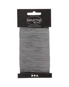 Filo riflettente, L: 0,8-1 mm, grigio, 100 m/ 1 conf.
