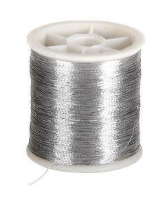Filo per cucire, spess. 0,15 mm, argento, 100 m/ 1 rot.