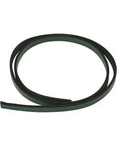 Cintura di finto cuoio, L: 10 mm, spess. 3 mm, verde, 1 m/ 1 conf.