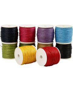 Corda di cotone, spess. 1 mm, colori forti, 10x50 m/ 1 conf.