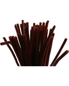 Filo di ciniglia, L: 30 cm, spess. 6 mm, rosso antico, 50 pz/ 1 conf.