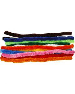 Filo di ciniglia, L: 45 cm, spess. 25 mm, colori asst., 60 asst./ 1 conf.