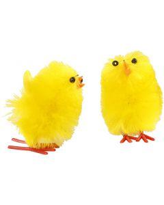 Pulcini di Pasqua, H: 30 mm, giallo, 12 pz/ 1 conf.