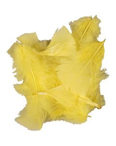Piume, misura 7-8 cm, giallo, 50 g/ 1 conf.