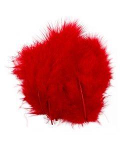 Piume, misura 5-12 cm, rosso, 15 pz/ 1 conf.