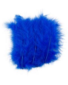 Piume, misura 5-12 cm, blu, 15 pz/ 1 conf.
