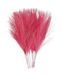 Piume artificiali, L: 15 cm, L: 8 cm, rosa, 10 pz/ 1 conf.