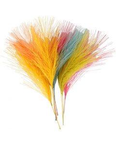 Piume artificiali, L: 15 cm, L: 8 cm, colori asst., 10 pz/ 1 conf.