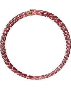 Filo di aluminio, diamantato, spess. 2 mm, rosso, 7 m/ 1 rot.