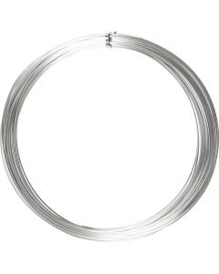 Filo di alluminio, rotondo, spess. 1 mm, argento, 16 m/ 1 rot.