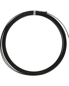 Filo di alluminio, piatto, L: 3,5 mm, spess. 0,5 mm, nero, 4,5 m/ 1 rot.