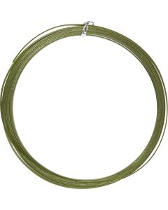 Filo di alluminio, piatto, L: 3,5 mm, spess. 0,5 mm, verde, 4,5 m/ 1 rot.