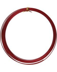 Filo di alluminio, piatto, L: 3,5 mm, spess. 0,5 mm, rosso, 4,5 m/ 1 rot.