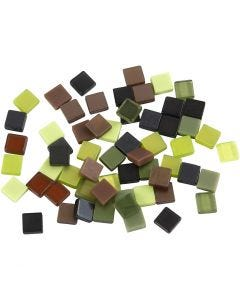 Mini mosaico, misura 5x5 mm, verde glitter, 25 g/ 1 conf.