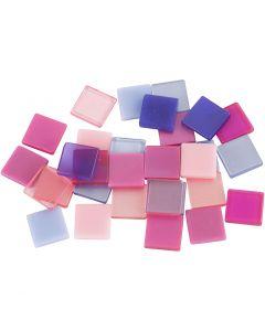 Mini mosaico, misura 10x10 mm, viola/viola scuro, 25 g/ 1 conf.