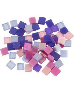 Mini mosaico, misura 5x5 mm, viola/viola scuro, 25 g/ 1 conf.