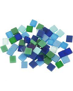 Mini mosaico, misura 5x5 mm, armonia blu/verde, 25 g/ 1 conf.