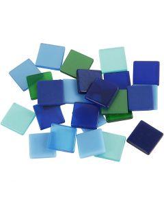 Mini mosaico, misura 10x10 mm, armonia blu/verde, 25 g/ 1 conf.