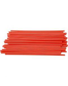 Cannucce per creazioni, L: 12,5 cm, diam: 3 mm, rosso, 800 pz/ 1 conf.