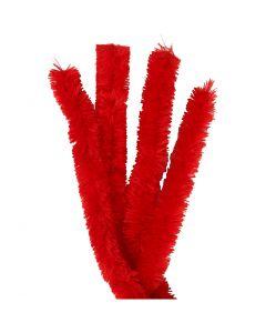 Filo di ciniglia, L: 40 cm, spess. 30 mm, rosso, 4 pz/ 1 conf.