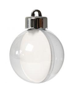 Pallina da decorare, diam: 5 cm, transparent, 10 pz/ 1 conf.