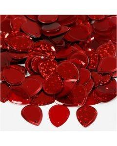 Lustrini, goccia, misura 14x19 mm, rosso, 50 g/ 1 conf.