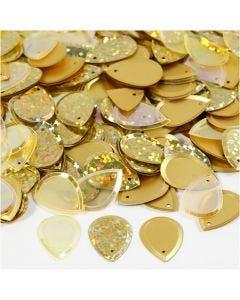 Lustrini, goccia, misura 14x19 mm, oro, 50 g/ 1 conf.