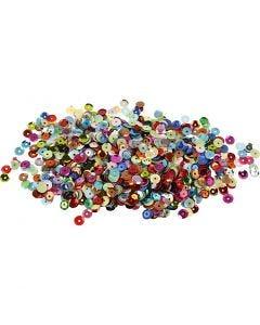 Lustrini , rotondi, diam: 6 mm, 100 g/ 1 conf.