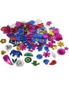 Lustrini, misura 15-45 mm, colori forti, 30 g/ 1 conf.