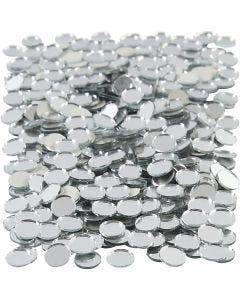 Tessere a specchio per mosaico, rotondo, diam: 10 mm, 500 pz/ 1 conf.