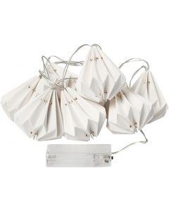 Striscia di luci LED con paralumi, H: 80 mm, L: 100 cm, diam: 65 mm, bianco, 1 pz