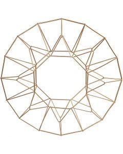 Decoro pendente, cerchio, diam: 28 cm, ottone, 1 pz